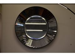 Steel Drum Mirror Large Round Accent Mirror