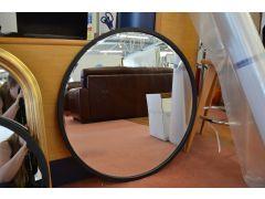 Large Black Round Mirror