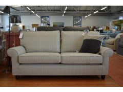 Abingdon Large Sofa 2 - 3 Seater Appleton Dove Grey Check Fabric