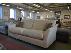 Prototype Loose Cover Sofa in Cream Linen Fabric Grand 4 Seater