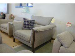 Lecco Grey Fabric Armchair