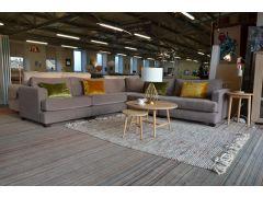 LOLA Large Corner Sofa in Cocoa Bean Brown Chenille Modular Suite