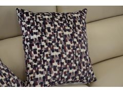 Pair of Dark Mulberry Pattern Cushions with Fillers
