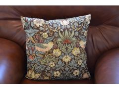 Pair of Small Bird Arts & Crafts Style Cushions with Fillers