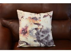 Pair of Watercolour Bird Cushions with Fillers