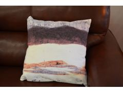 Pair of Watercolour Landscape Cushions with Fillers