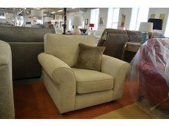 Penelope Beige Fabric Armchair