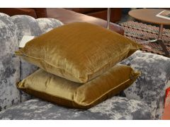 Pair of Deluxe Gold Velvet Cushions