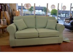 2 Seater Fabric Sofa with Arm Caps in Mint Green Cotton