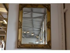 Large Gold Floral Mirror