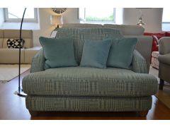 ex display sofas Lancashire blue fabric loveseat