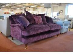 Isabelle 2 Seater Sofa in Purple Velvet