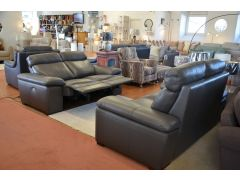 Merlino Leather Sofas Lancashire ex display sofa suite Italian brand sale