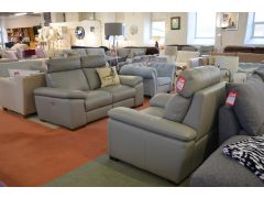 Merry two piece italian leather suite ex display discount leather recliners from worthington brougham furniture in clitheroe
