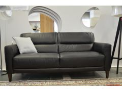 Moderno 3 Seater Sofa in Black Leather