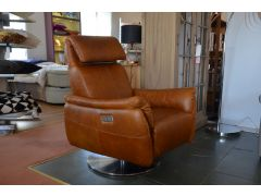 Nida Armchair Italia Living ex display sofas Clitheroe swivel electric recliner chair distressed leather