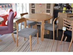 Normandy Round Dining Table and 4 Skandi Chairs