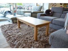 Plain Oak Coffee Table with Tapered Legs