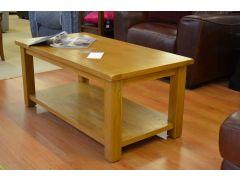 Simple Oak Coffee Table with Shelf
