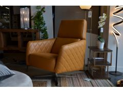 Odyssey Swivel Chair in Yellow Leather