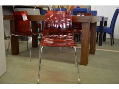 Orleans Set of 4 Red Acryllic Dining Chairs
