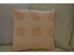 Pair of Haze Peach Scatter Cushions in Polkadot Cotton