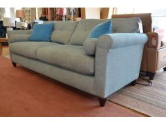Phoebe Large 4 Seater Sofa in Blue Fabric