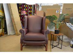 Sinatra Leather Wingback Armchair