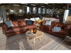 Wycombe large leather suite at Worthington Brougham ex display sofas warehouse showroom