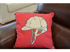 Pair of Polo Helmet Cushions in Red