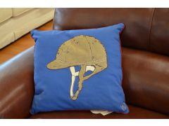 Pair of Polo Helmet Cushions in Blue