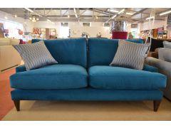 Poppy Large 3 Seater Sofa in Teal Blue Velvet
