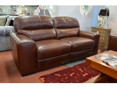 Amadeus Two Seater Leather Sofa with Twin Power Recliners
