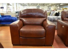 Amadeus Brown Italian Leather Armchair