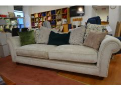 Pearl Chenille 4 Seater Sofa with Scatter Back