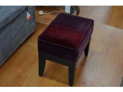 Purple Velvet Footstool
