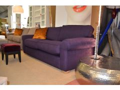 ex display sofa Madison Purple Fabric Two Piece Suite sofas Lancashire Clitheroe A59 near Loom Loft - but much cheaper!
