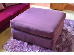 Metro Purple Velvet Footstool Extra Large