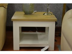 Qubis Side Table in Oak and Painted Wood