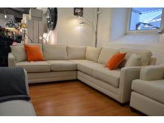 Restrop Corner Sofa in Cotton Wisp Fabric 7 Seater