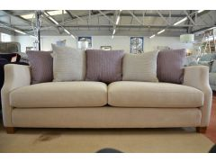 Riley 3 Seater Sofa with Lilac and Purple Cushions