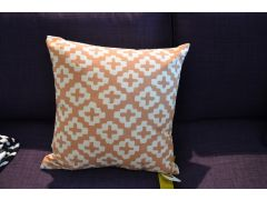 Ochre Scatter Cushions with Cross Pattern ROCCO Pair of 2 Cushions with Fillings