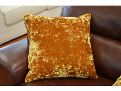 Pair of Jewel Velvet Cushions in Egg Yolk