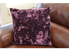 Pair of Jewel Velvet Cushions in Amethyst