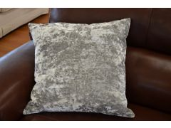 Pair of Jewel Velvet Cushions in Moon Silver
