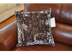 Pair of Jewel Velvet Cushions in Pewter Grey