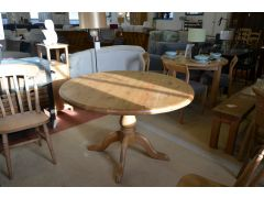 Large Round Solid Pine Dining Table