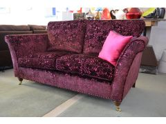 Westbridge Royale Sofa Purple Velvet Half Price Ex Display