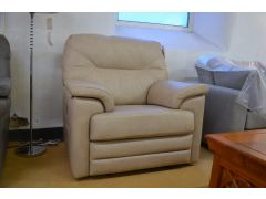 Shalbourne Armchair Beige Leather Electric Recliner