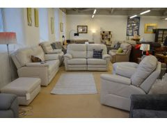 Ex display G Plan Shalbourne leather recliner suite